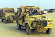 Land Rover Defender 110 patrol vehicles