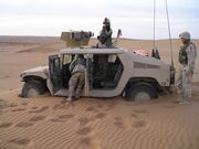 US soldiers stuck in sand in southern Afghanistan