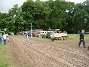 Military vehicle display at Bromyard 08 - P7060193