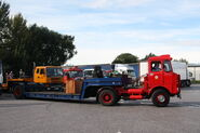Foden (YWB874T) and 4-inline tasker lowloader at Exelby services 2013 -IMG 1984