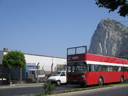 Open-top bus in Gibraltar 2005
