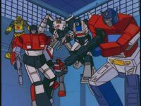 G1 cartoon Autobots fly