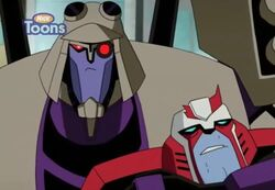 TFA Sari no one home Blitzwing Ratchet hostage