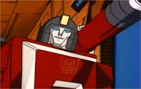 Perceptor with Decepticon symbol