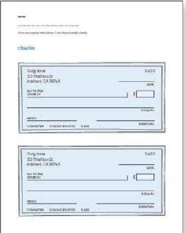 Printables Blank Checks Worksheet checkbook worksheets for students free printable checks play math worksheet volunteer guide kids checking savings global money wiki students