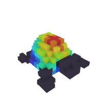 Rainbow-Shelled Turtleling