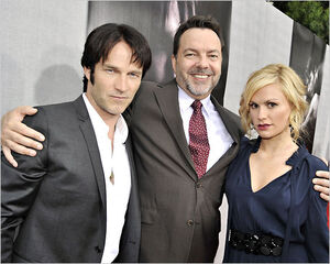 Stephen Moyer, Alan Ball and Anna Paquin in Los Angeles