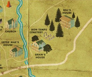 Map of bon temps-cemetery