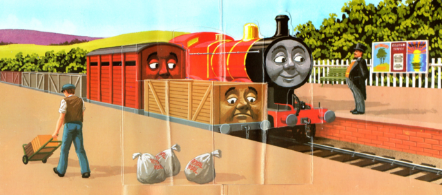 File:JamestheRedEngineandtheTroublesomeTrucks6.png