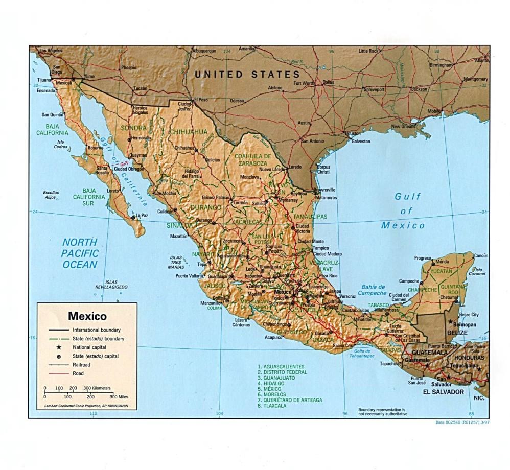 Mexico Turtledove – Map Usa Y Mexico