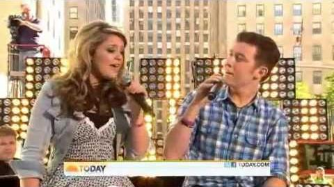Scotty McCreery and Lauren Alaina - I Told You So - Today Show 06 02 11