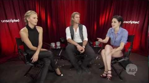 """Unscripted Moviefone Interview w the """"Snow White & The Huntsman"""" Cast"""