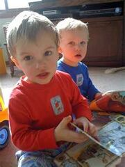 2 little monkeys josh and callum aged 2 yrs 3 months