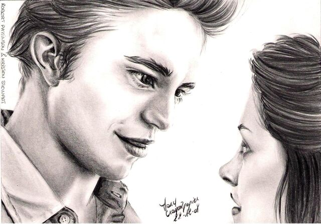 File:R Pattinson et K Stewart by crayon2papier.jpg