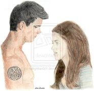New Moon Jacob and Bella by twilightfan001