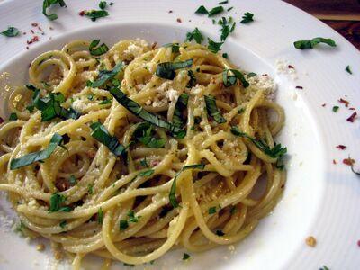 Garlicspaghetti