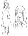 Asagami Fujino early sketch.png