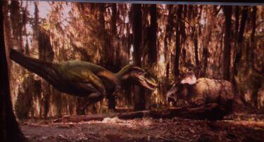 Albertosaurus vs. Pachyrhinosaurus