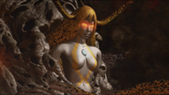 Kamila on Demonothor's head