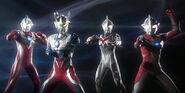 Zero,Mebius,Max & Nexus in Ultraman Retsuden
