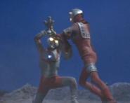 Fighting man kneeling