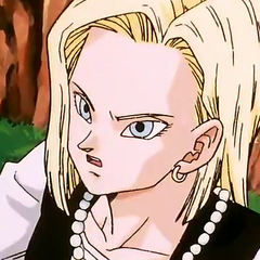 Android 18 hides from Cell