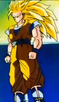 SSJ3 Goku Showing Trunks and Goten