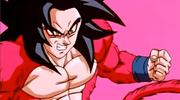 SSJ4 Goku recovering from Baby's Ki Blast