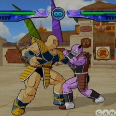 Nappa and Capt. Ginyu about to fight