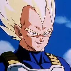 Super Saiyan Vegeta before fighting Cell.