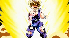 Gohan Powers Up For The Kamehameha