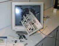 Smashed-computer