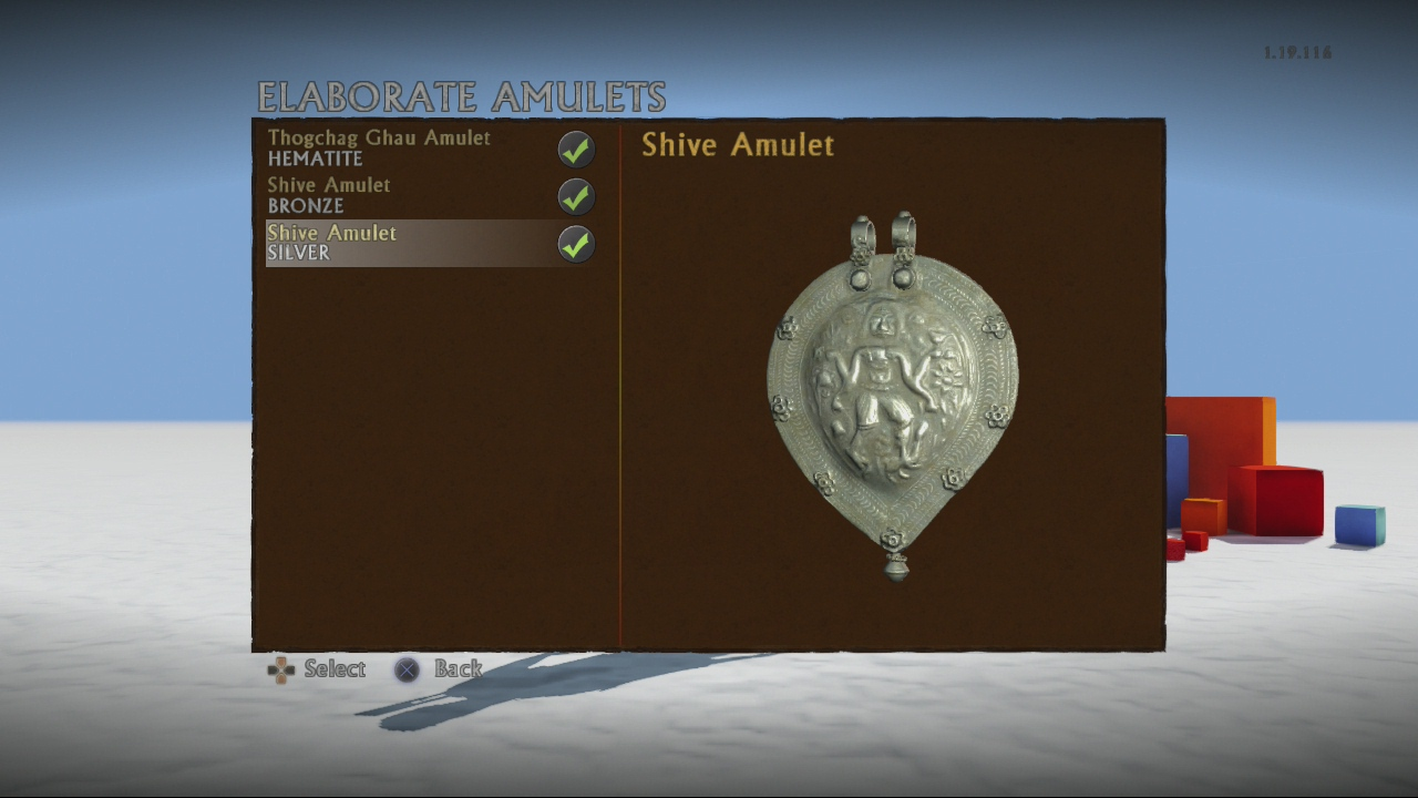 Shive amulet (silver)
