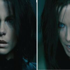 Selene's relaxed state versus her agitated state in <i>Awakening</i>.
