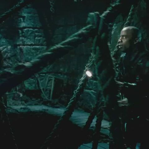Greenway and Selene in <i>Underworld: Evolution</i>.