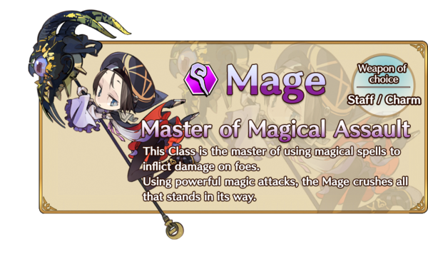 Class-Mage Information