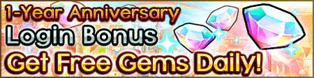 1 Year Anniv Login Bonus