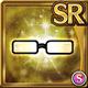Gear-Black Thin Rim Glasses Icon