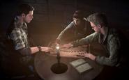 Josh, Ashley and Chris preparing the ouija board