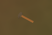 Hammer on the ground