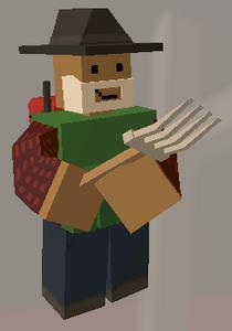 Player holding Pitchfork