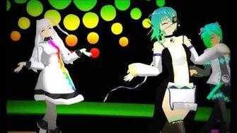 UTAU MMD Happy Synthesizer Kasumi Mamiko Featuring Po and Kuota