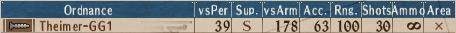Mortar-MG T1-6 - Stats