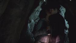Bonnie and Jeremy in their Romantic Cave full of Romantic Travellers