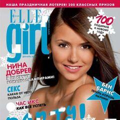 Elle Girl — Dec 2010, Russia, Nina Dobrev