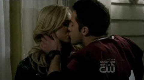 Caroline and Tyler First Kiss 3x12
