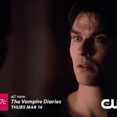 Damon talking with Stefan