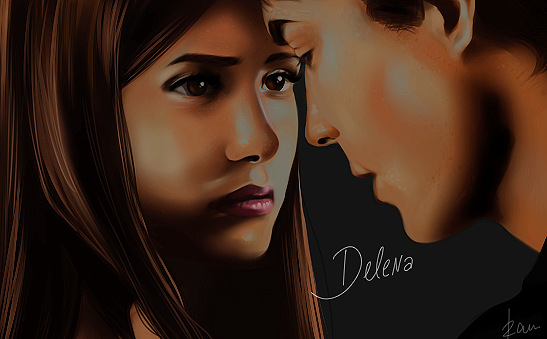 the vampire diaries wallpaper damon and elena