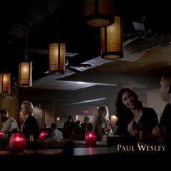 Matt and Rebekah at the Grill.