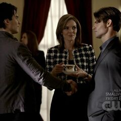 Elijah and Damon in the Lockwood mansion